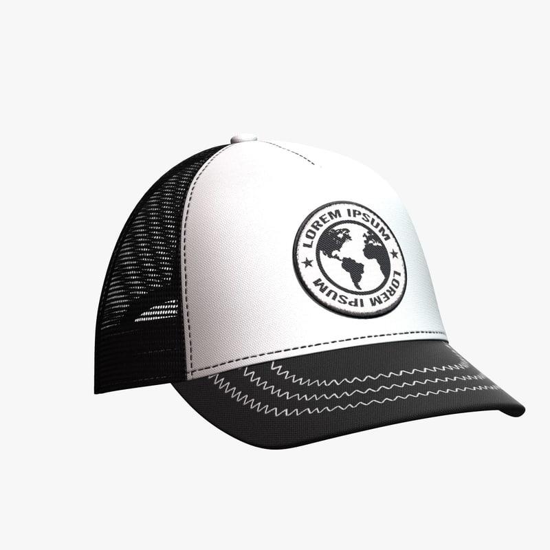 baseball hat 7 3D model
