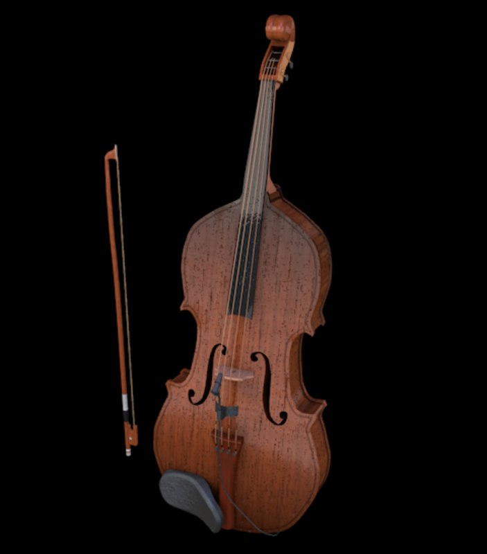 3D violin strings model