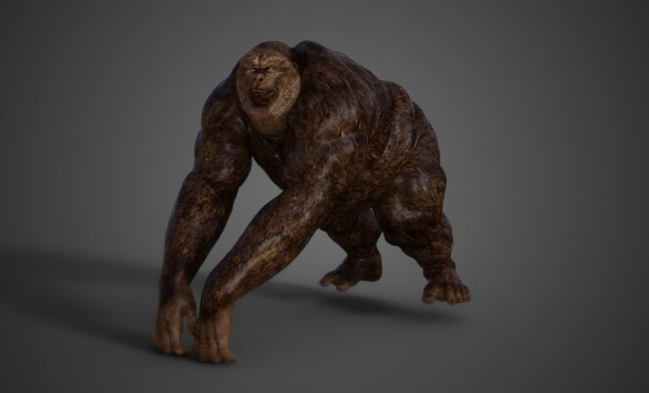 orangutan 3D model