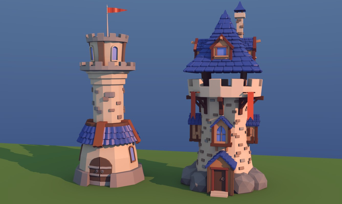 towers games 3D model