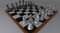 3D chess table model