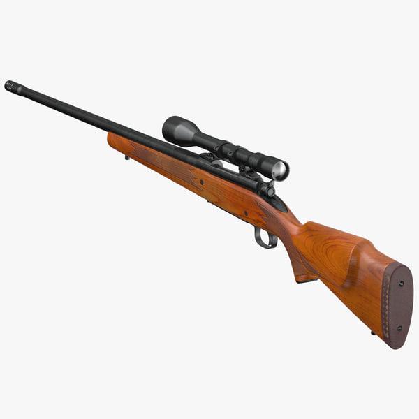 3D winchester 70 sniper - model