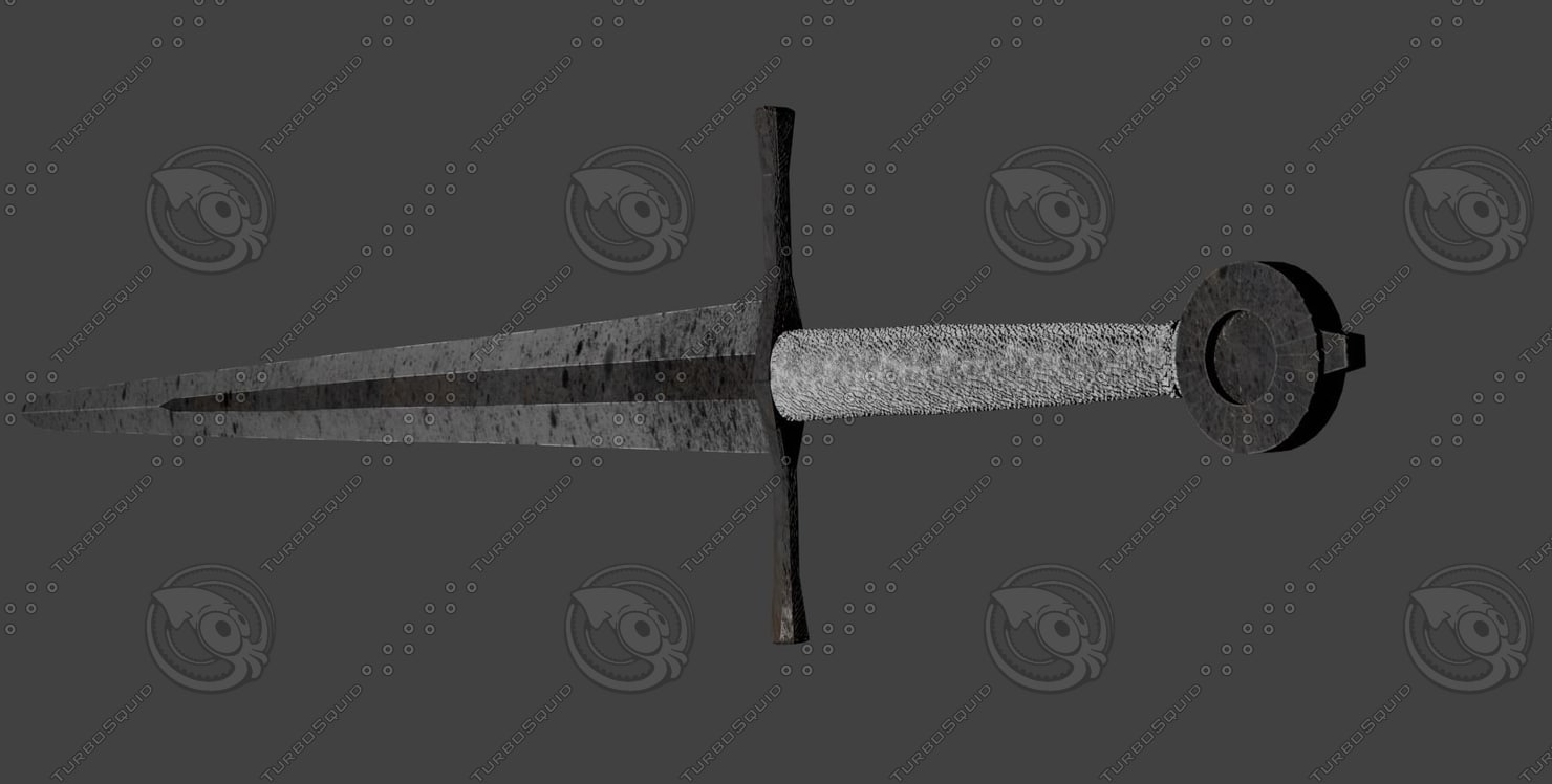 simple onehanded sword 3D model