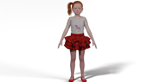 rosemary realistic child 3D