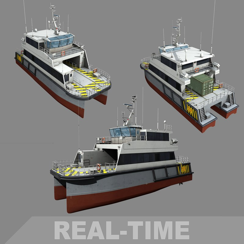 3D smv1 offshore supply vessel