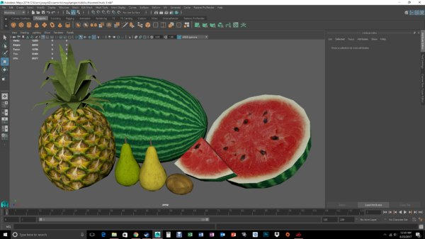 fruit pear 3D model