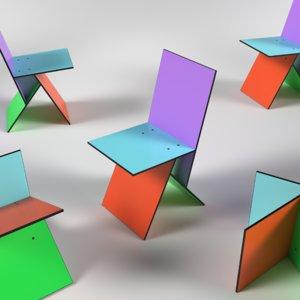3D vilbert chair model