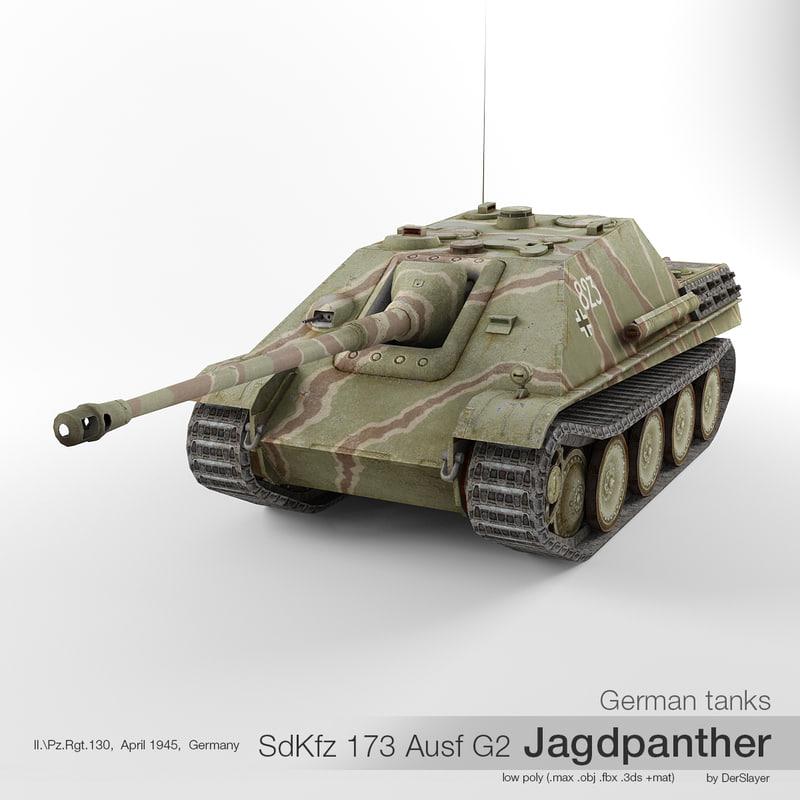 sd kfz 173 jagdpanther 3D model