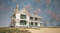 3D model house building villas