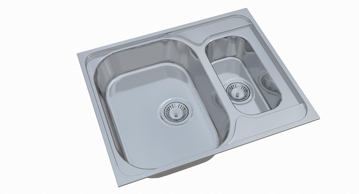 Sink blancotipo 6 3D model - TurboSquid 1170732
