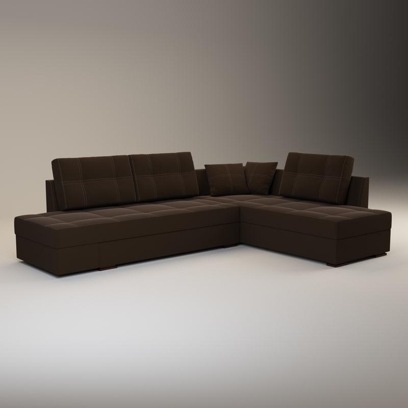 large corner sofa franchesca 3D model