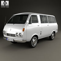 3D toyota hiace 1967 model