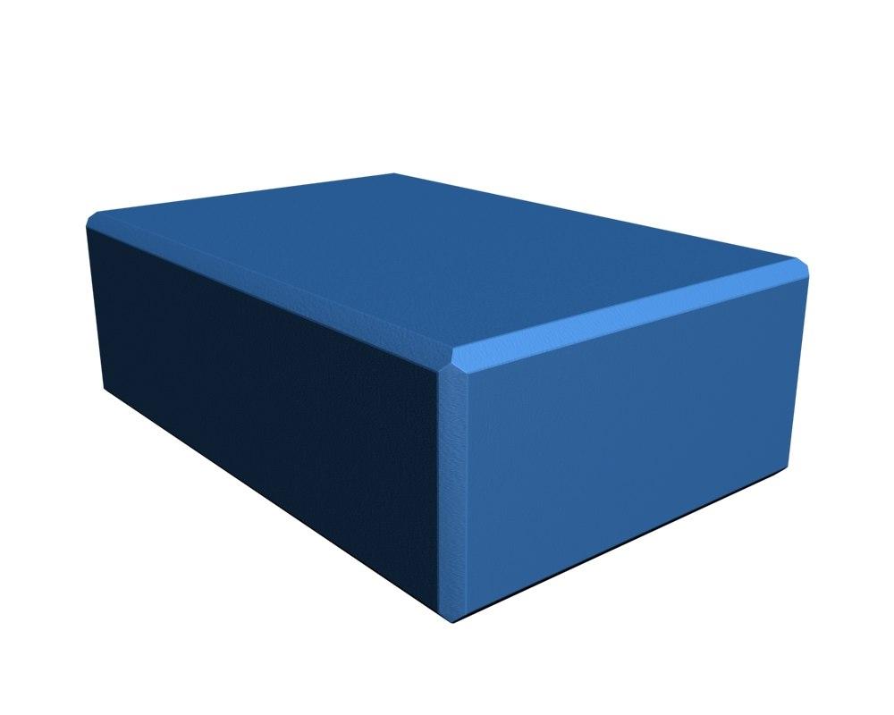 3D yoga block model