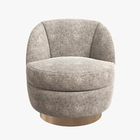 Elegant Swivel Tub Chair by Milo Baughman