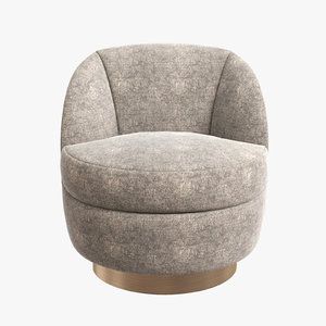 milo baughman swivel chair 3D