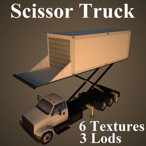 3D scissor truck airport