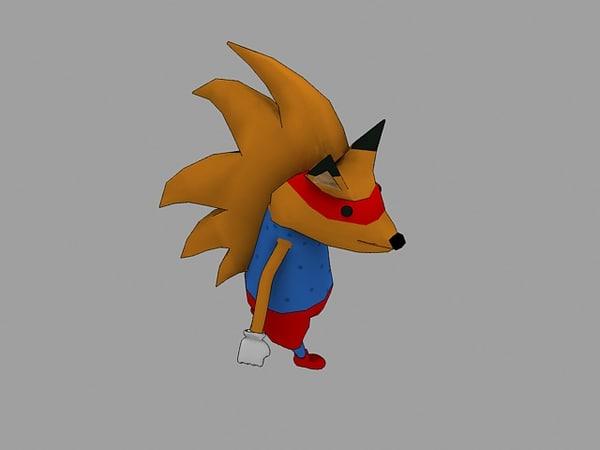 unity fox 3D model