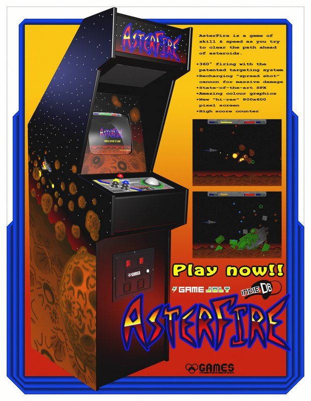3D model asterfire cabinet arcade