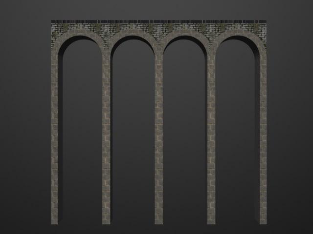 3D bridge bricks model