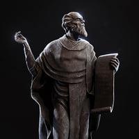 3D statue sage kirill turovskiy