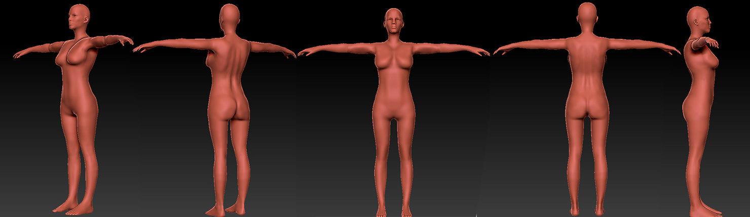3D female base mesh