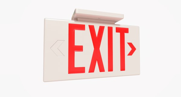 3D exit sign - model