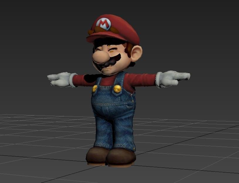 mario - super smash 3D model