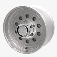 aluminium rim 3D