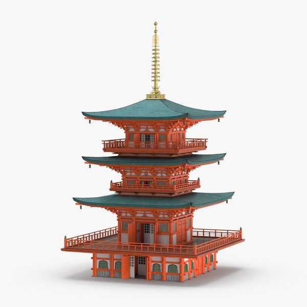 3D japanese-temple-01 model