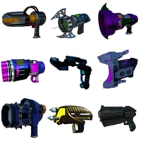 blender guns 3D model