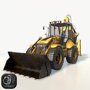 new holland b115 backhoe 3D model