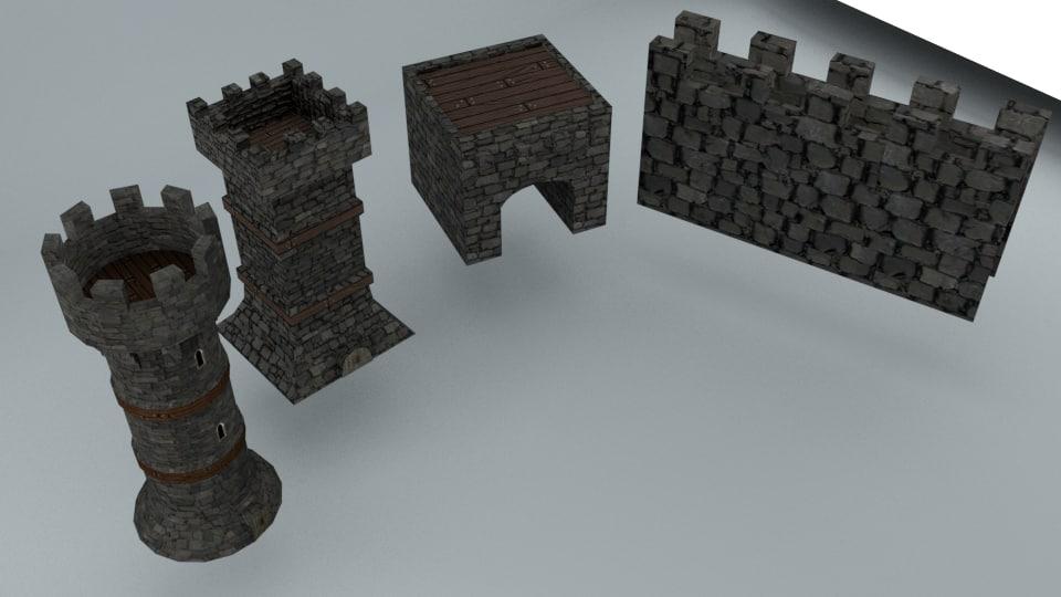 medieval asset 3D model