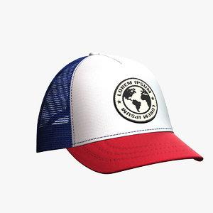 3D baseball hat 9 model