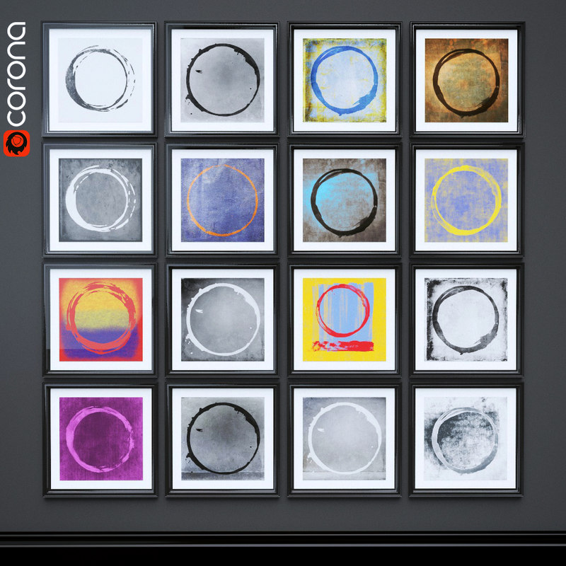 enso paintings 3D model