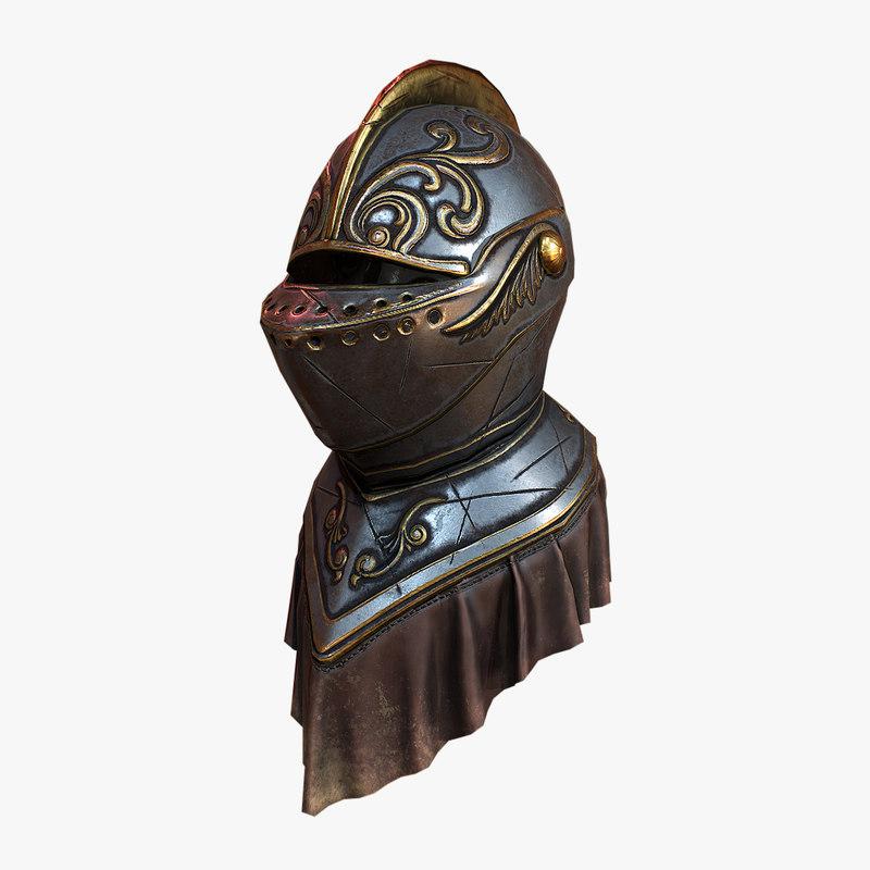 3D model medieval helmet 2
