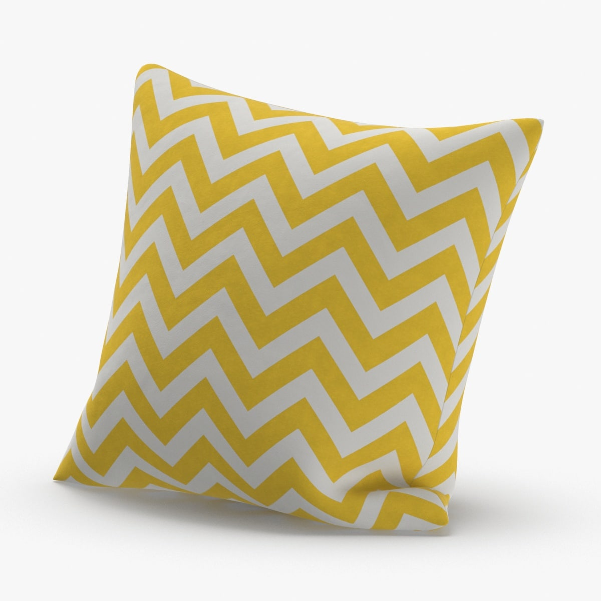 throw-pillow-02---yellow-striped 3D model
