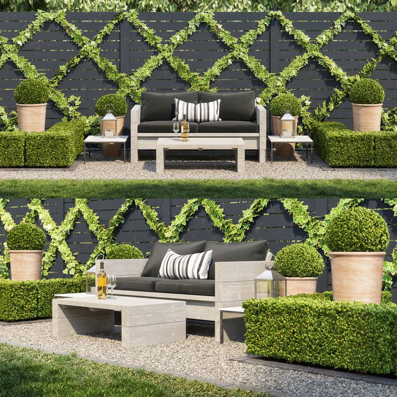 3D model rest garden