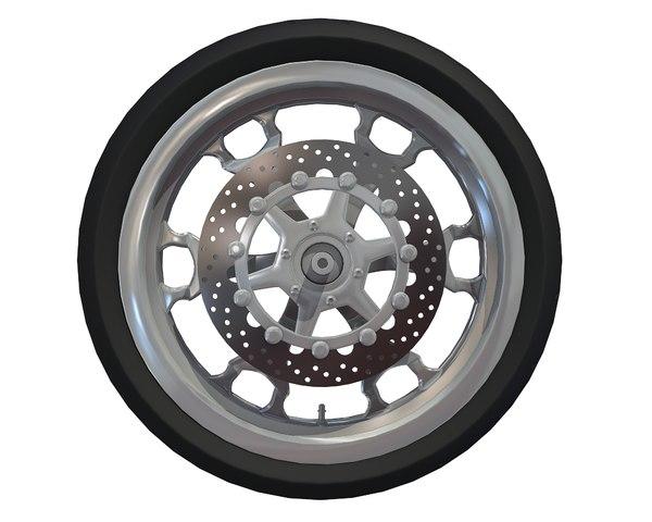 motorcycle wheel 3D model