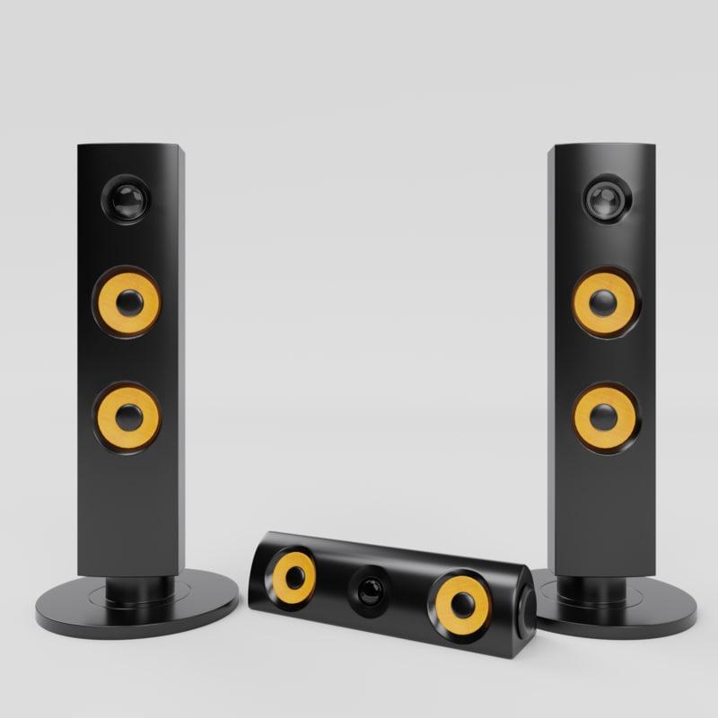 box speaker 3D model