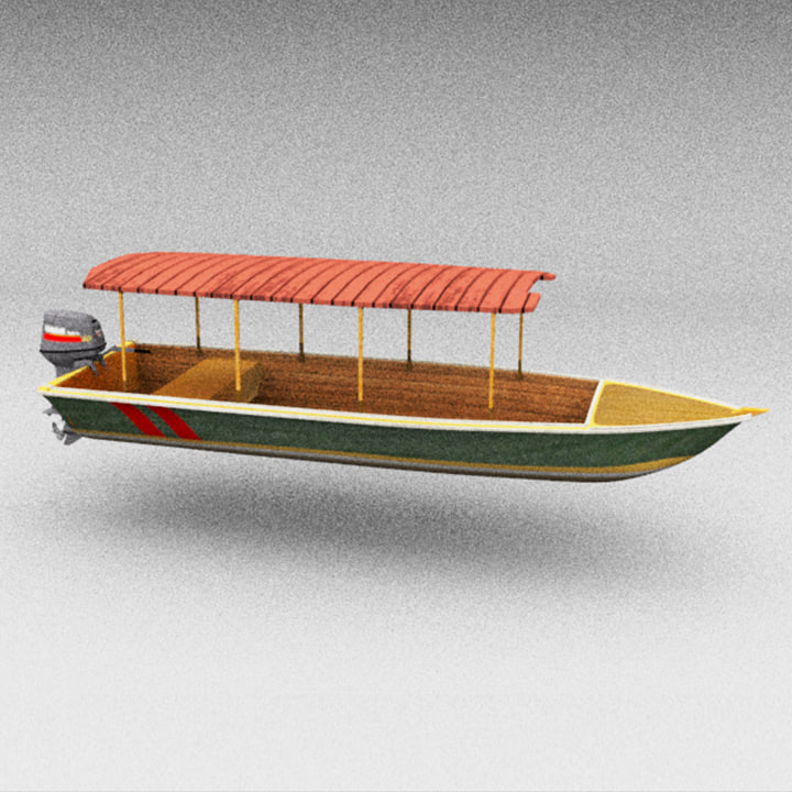 3D motorboat water taxi model