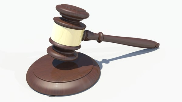 judge hammer 3D model