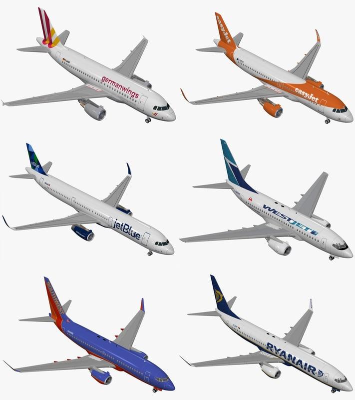 3D model airbus a319 -