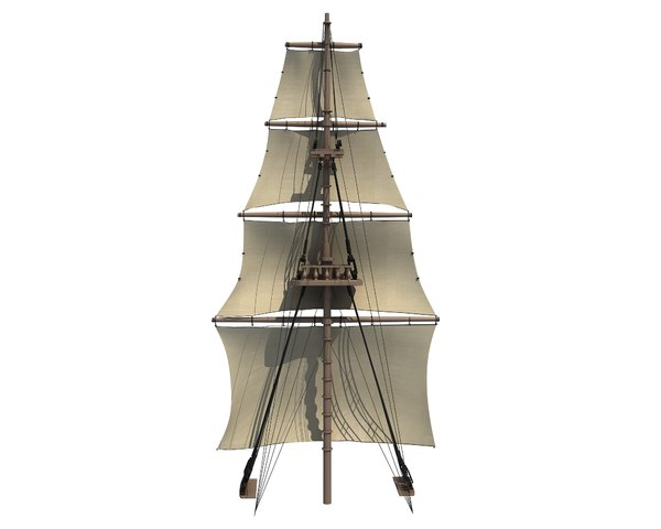 sailing ship mast 3D