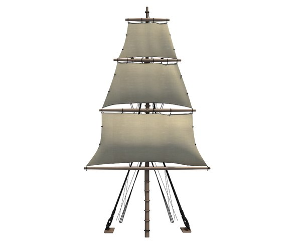 3D sailing ship mast