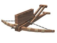 3D model medieval weapon