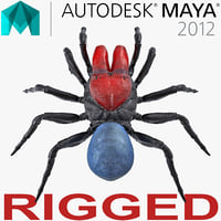 mouse spider rigged 3D
