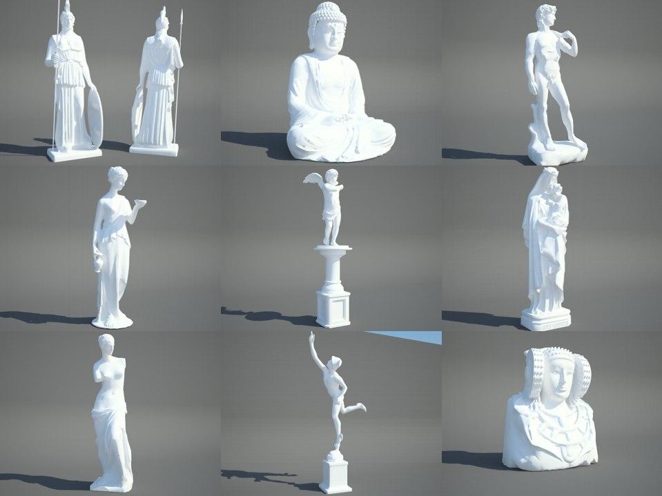3D sculpture model