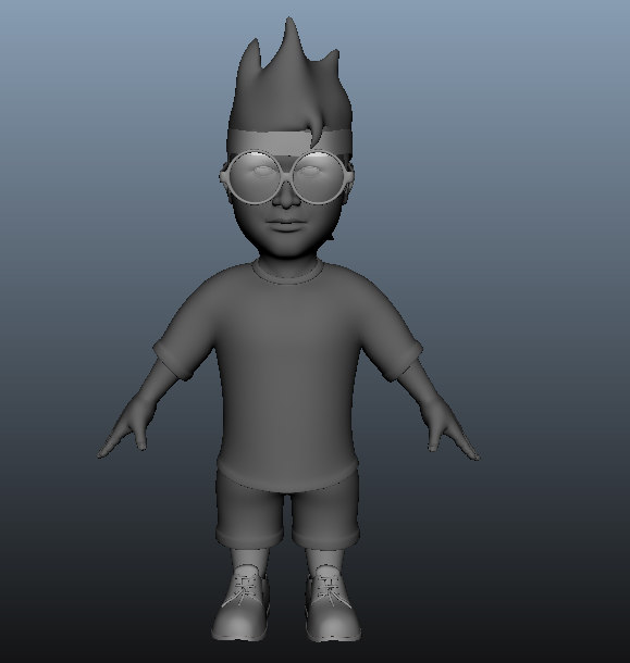 3D child character model