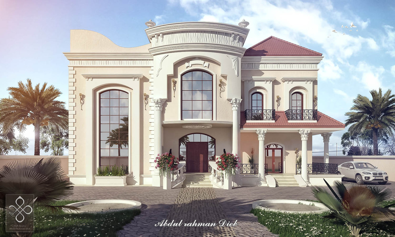 New classic villa 3d model turbosquid 1171041 for Classic villa exterior design