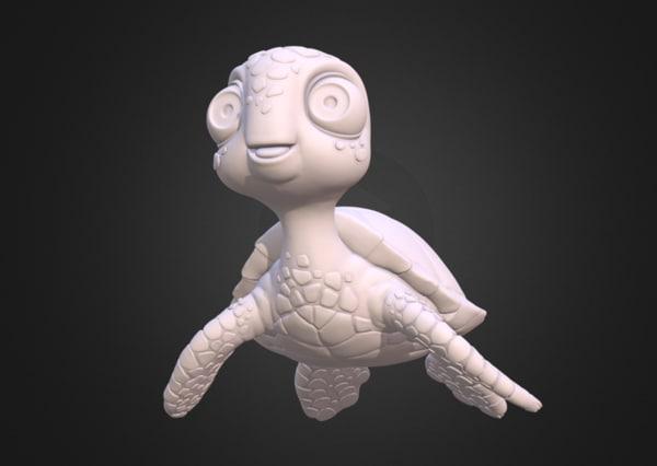 turtle sea 3D model